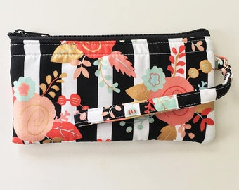 Piper Floral Wristlet // Ready To Ship // Clutch // Wallet