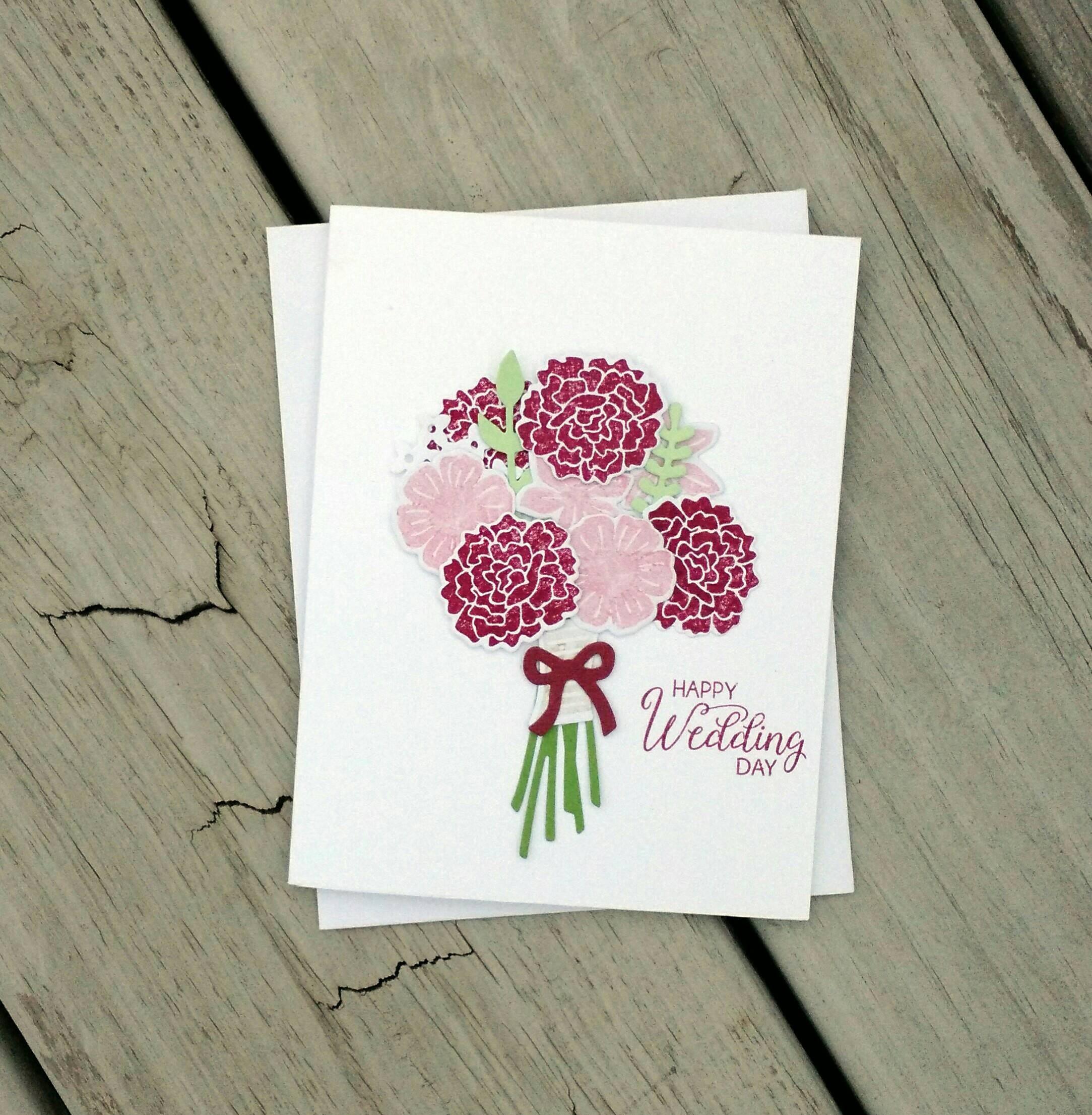 wedding card wedding gift stampin up card bridal shower card bridal shower