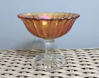 Vintage Carnival Glass Candy Dish