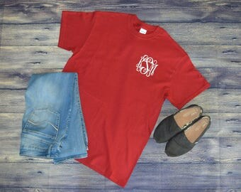 SALE!! Monogrammed Shirt - Monogram Shirt - Monogram T-shirt - Monogram Tshirt - Personalized Shirt - Monogram Tee - Monogrammed Tee