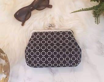 Black and white Clutch Italian design, wedding clutch, couture, high fashion, evening clutch, clutch purse, modern design, handcrafted UK