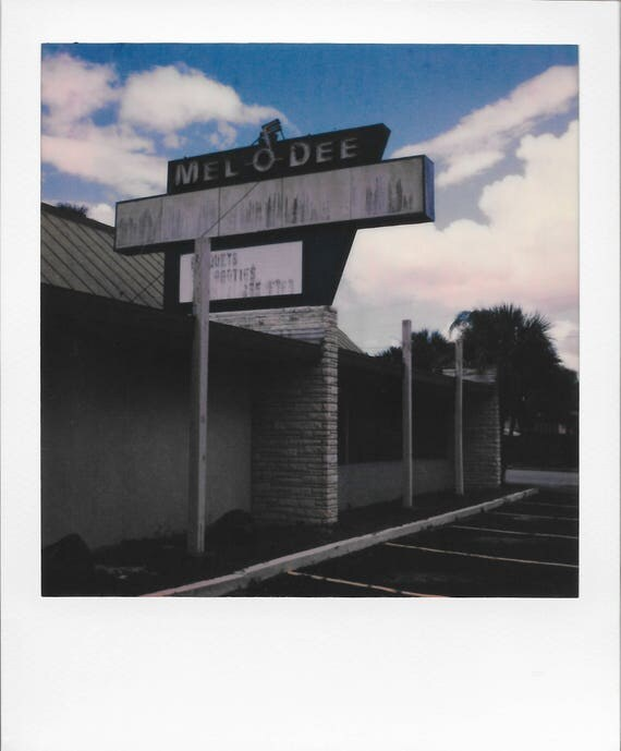 Set of Two : MELODEE Restaurant / Vintage Style Original Polaroid by Dan Bell