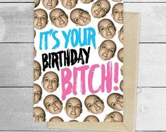 It's your birthday, bitch! Britney Spears, it's Britney bitch! greeting card, birthday, card Active