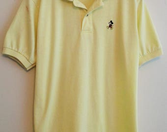 80's Disney Wear Yellow Mickey Mouse Polo