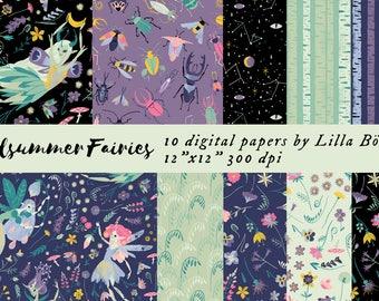 Midsummer Fairies Digital Papers