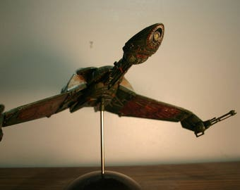 Klingon Bird of Prey Hand Painted and Weathered Model