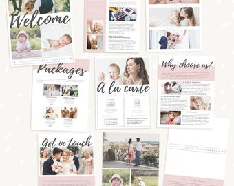 Welcome guide template, Photography Magazine, 9 pg, Brochure for photographers, Magazine Template, Magazine Photoshop Template, PSD magazine