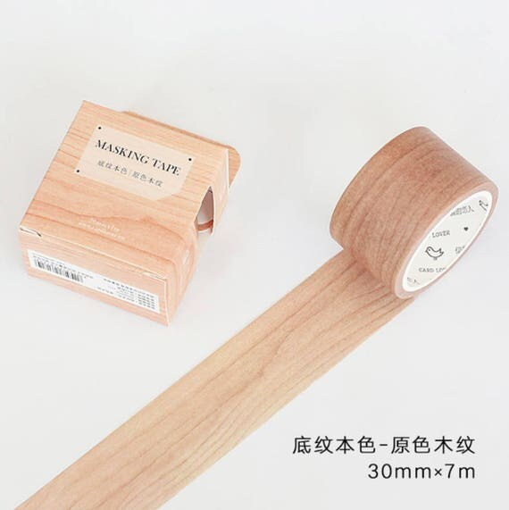 natural wood wood washi tape tree washi tape wooden panel wide washi tape 30mm x 7m. Black Bedroom Furniture Sets. Home Design Ideas