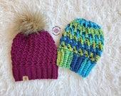 Rippled Slouch Beanie PATTERN | Crochet Hat Pattern | Crochet Beanie Pattern | Slouch Hat Pattern | Instant Download Pattern