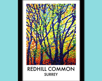 Redhill Common Travel Poster