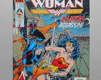 Wonder Woman # 1 ; Deathstroke; the Terminator; Wonder Woman # 1 Special;  Wonder Woman defeats Deathstroke the Terminator!  High Grade!