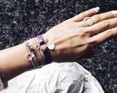 Ibiza style, boho gifts sister, leather cuff for her, yoga lover, yoga bracelet, karma bracelet, recycled, boho girl, wrap bracelet, mindful
