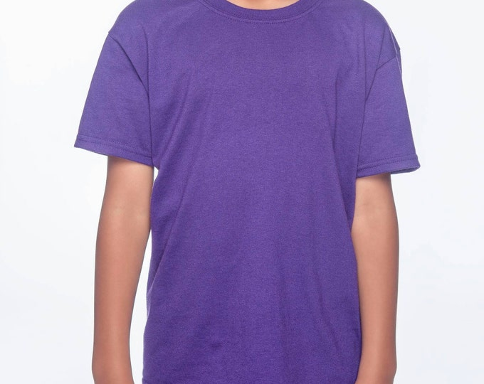 Blank Purple T-Shirt with Fringe Options