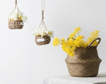 Artificial Yellow Rice Hydrangea Spray Branch for Centerpieces and Floral Arrangements / Faux Yellow Flower Stem