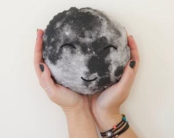 Moonface Cushion, Lunarette Moonface Pillow, Moon Cushion, Home Decor Cushion, Retro, Space Cushion, Softie