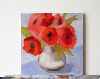 Flowers painting, original flowers painting, oil painting