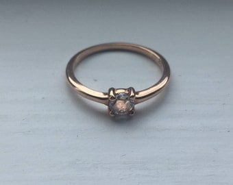 Rosecut diamond ring, 18K gold