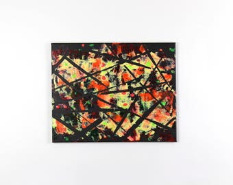 Original Abstract Painting - Neon Modern Wall Art
