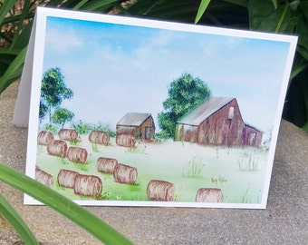 Greeting card birthday any father/man for himself/Encouragement/congratulations/graduation/Nature/country/barn-CC-LP-0002