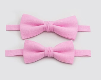 Boys Pink Bow Tie Mens Bow Tie Father Son Bow Ties Toddler Bow Tie Dad And Son Outfit