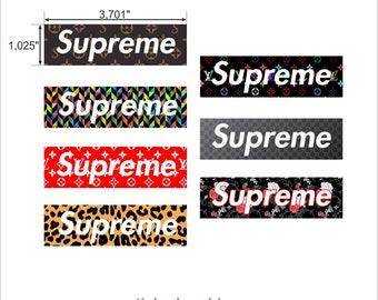 "Laptop mobile phones stickers set ""Supreme"" version3"
