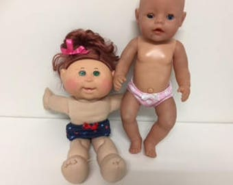Dolls Undies to fit Baby Born and Cabbage Patch dolls