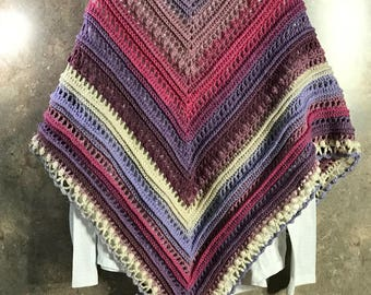 Women's Crocheted Triangle Shawl Wrap, Scarf, Ready to Ship, Women's Accessories, Women's Clothing, Handmade