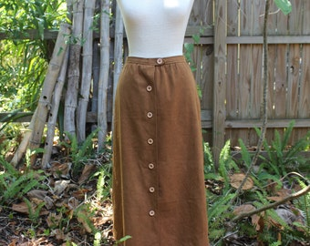 70's Vintage Suede Skirt-XS
