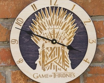 Game of thrones, GoT, Iron Throne, Throne of Swords, Midieval Weapons, Game of Thrones, Thrones clock, Swords, Mens Gift