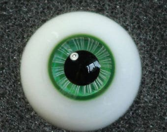Quetzal - Handmade Green BJD Glass Eyes (B03) | 12mm, 14mm, 16mm, 18mm