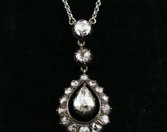 Antique Dutch Rose-cut Diamond Necklace
