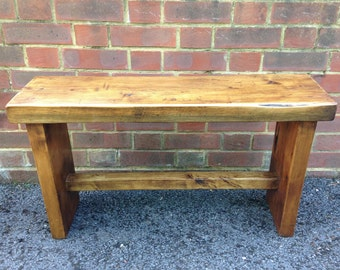 Wooden bench - handmade from beautiful reclaimed vintage pine