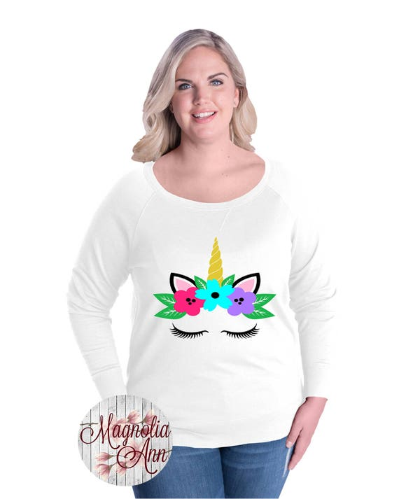 Unicorn French Terry Pullover Sweatshirt, Size Small-4X, Plus Size Clothing, Plus Size Sweatshirt, Plus Size Unicorn, Unicorn Sweatshirt