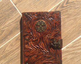 Steampunk Leather Journal, Leather Notebook, Leather Sketchbook, Labyrinth Journal, Journal with Lock, Gift Idea