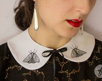 Ophiusa Moth | Handmade Peter Pan Collar