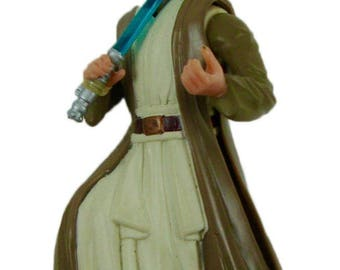 Star Wars Power of the Force Cantina Showdown Obi-Wan Kenobi Action Figure Wal-Mart Exclusive 1997 Kenner