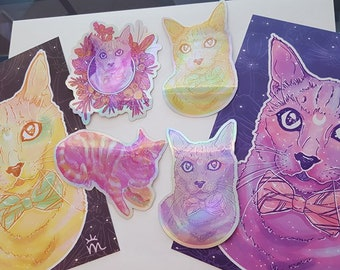 Cat Fanatic Print And Sticker Pack Collection