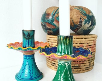 Colorful' Sombrero' Candle Holders