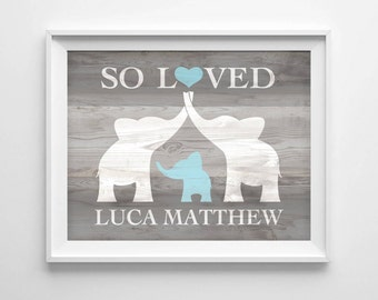 Custom baby name etsy elephant nursery art custom baby name wall art elephant baby shower gift nursery negle Gallery