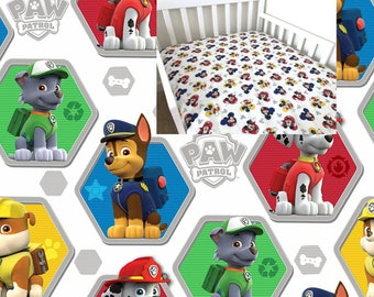 Paw Patrol Fitted Crib Sheet Paw Patrol Nursery Bedding Sheet Dogs Toddler Bedding Changing Pad Cover Cradle Mini Crib Twin Full Sheet Set