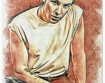 Shawn Mendes Colored pencil drawing art print