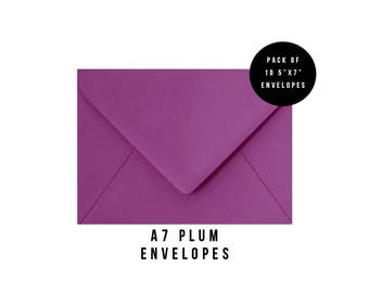 5x7 Purple Envelopes