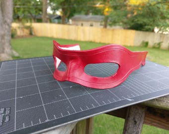 Arsenal Inspired Leather Mask w/strap