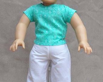 "Top and pants outfit for 18"" dolls, including American Girl"
