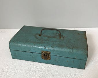 Vintage Blue Bernz-O-Matic Metal Tool Box