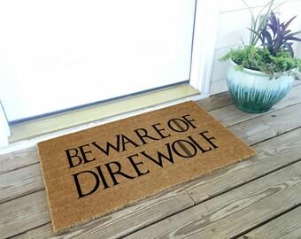Game of Thrones Doormat - Beware of Direwolf