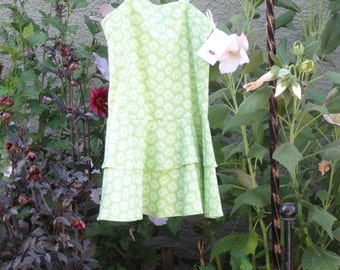 Green Flowered Sun Dress