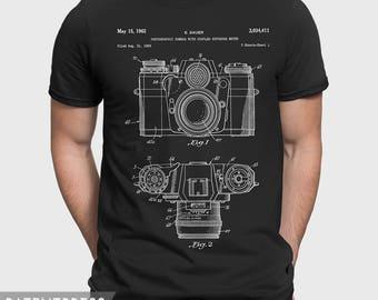 Camera T-Shirt, Photography T Shirt, Camera Patent Shirt, Photographic Camera Gift For Photographer Gift For Dad P084