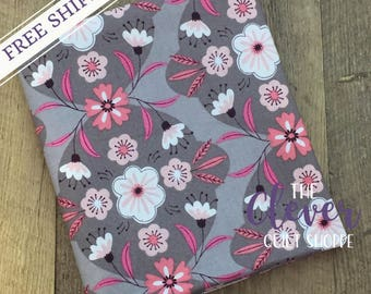 Quilting Fabric, Camelot, Captivate Damask in Taupe by Alisse Courter