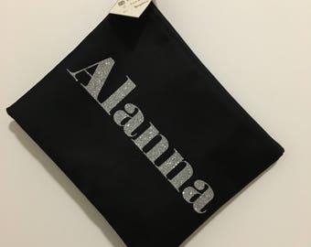 Glitter Name Custom Makeup Bag / Monogram Bag / Cosmetic Bag / Toiletry Bag / Name Bag